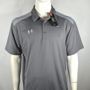 Under Armour Men's Polo Golf XXL Colorblock Gray